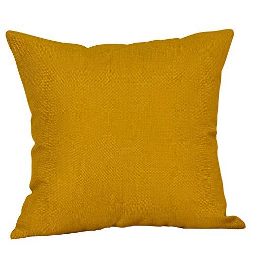 Donasty Geometrie Kissenbezüge aus Mikrofaser Bequem Dekorative Kissenhülle Kopfkissen Zuhause für Sofa, 45cmX45cm, Gelb und Weiß
