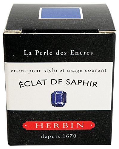 J. Herbin Fountain Pen Ink - 30 ml Bottled - Eclat de Saphir