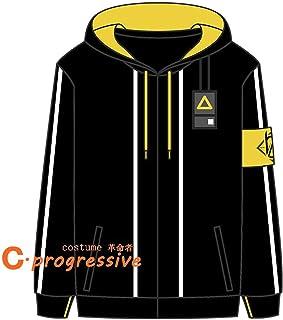 「C.progressive」 ドールズフロントライン(ドルフロ) UMP9 コスプレ 衣装 コート スウェット スエードバーカー (服装, L)