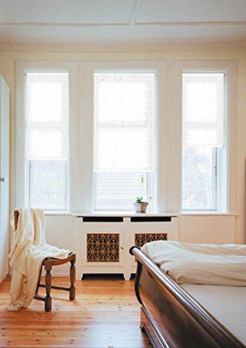 sundiscount Stoffmuster für Plissee nach Maß Jacquard 251 weiß, marmoriert
