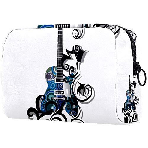 Kit de Maquillaje Neceser Guitarra eléctrica Azul Make Up Bolso de Cosméticos...