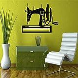 Máquina de coser silueta pegatinas de pared hogar dormitorio arte moderno decorativo vinilo pared mural calcomanías 57x110cm
