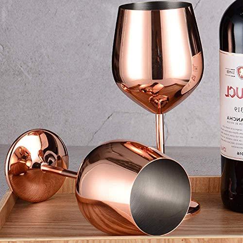 304 Edelstahl Rotwein Glas Silber Rose Gold Pokale Saft Trinken Champagner Becher Party Barware Küche Werkzeuge 500ML
