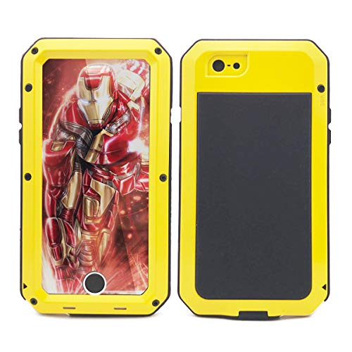 iPhone 6s Plus Case,Marrkey Heavy Duty Shockproof [Tough Armour] Water Resistant Aluminum Alloy Metal Case with Silicone Built-in Screen Dual Layer Protector for Apple iPhone 6 Plus - Yellow