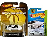 Hot Wheels James Bond Lotus Esprit S1 Underwater Spy who Loved Me Retro & HW Garage Mainline #219 White