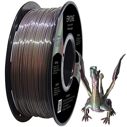 ERYONE Rainbow PLA Filament 1.75mm Filament for 3D Printer 1kg /Spool, Lagoonbow Rainbow