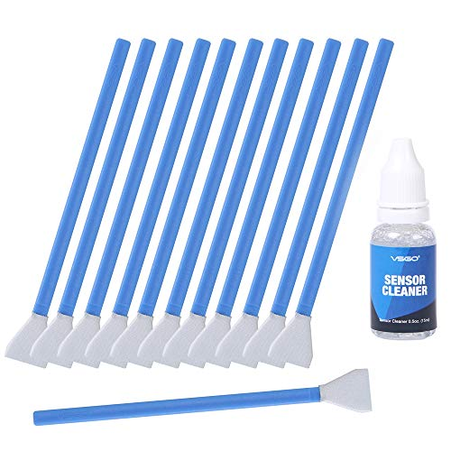 UES DDR16 DSLR or SLR Camera APS-C Sensor Cleaning Kit (12 X APS C Type Sensor Cleaning Swabs + 15ml Sensor Cleaner) UES