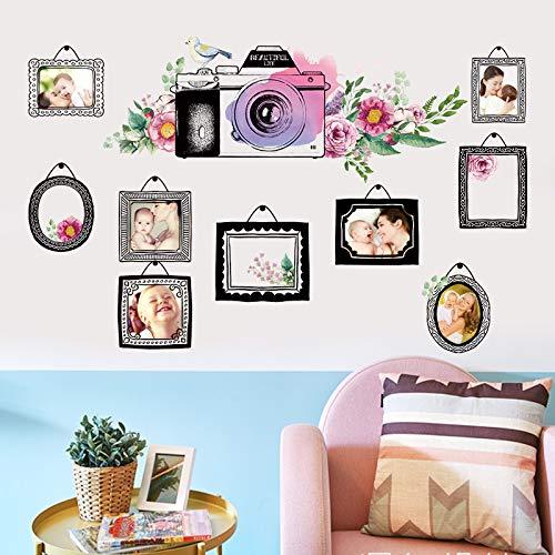Dibujos animados creativos pintados a mano marco de fotos de viaje pegatinas de pared personalidad dormitorio sala de estar sofá decoración de fondo foto pegatinas de pared 60X90 cm
