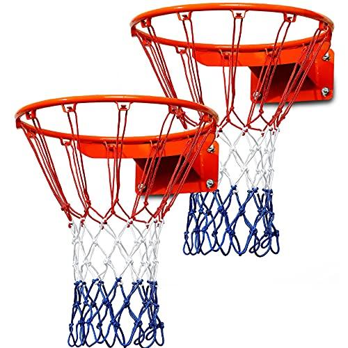 JSHAHA Juego de red para pelotas de rafia para exteriores e interiores, tamaño estándar, portátil y plegable, nailon, 12 lazos