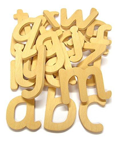 Major Brushes Lot de 26 lettres minuscules en bois