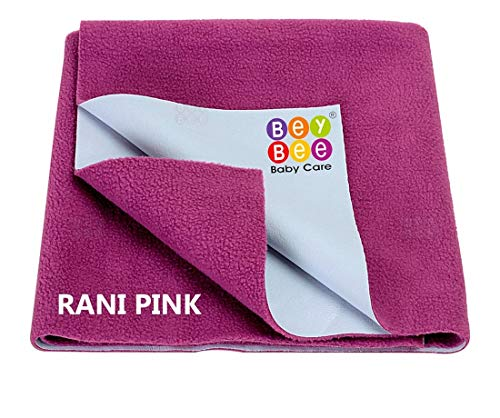 Eazi Rubber, Cotton Baby Bed Protecting Mat (blue, pink, Small)