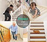 Queta Antirutschstreifen Treppe Set Rutschfest Stufenmatten Transparent Rutsch Streifen Treppenstufen Matten Rutschschutz 15 Rollen Transparente Antirutschstreifen mit Installationsrolle (15 x 80cm) - 10
