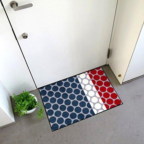 クリーンテックス ジャパン wash+dry薄型で丈夫な洗える玄関マット Mi×ed Dots grey 50×75cm 1枚