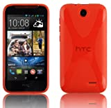 Cadorabo Case works with HTC Desire 310 in CANDY APPLE RED