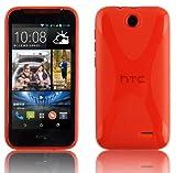 Cadorabo Hülle für HTC Desire 310 in Inferno ROT –