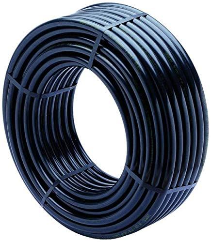 Suinga PE-LD Rohr 100 m x 16mm PN 4 (Solaranlage, Poolbeheizung) Verlegerohr Wasserleitung Versorgungsleitung Wasserrohr Bewässerung Kunststoffrohr schwarz