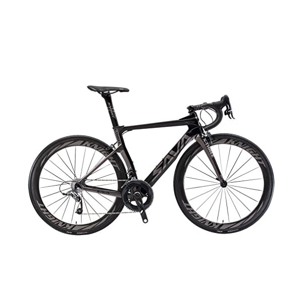 Road Bikes SAVADECK Phantom3.0 Carbon Road Bike 700C Carbon Fiber Racing Bike Full Carbon Bicycle with Shimano Ultegra R8000 22 Speed Groupset Continental Tires and Fizik Saddle [tag]