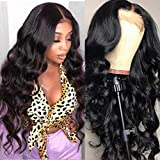 Beauhair Lace Front Wigs Human Hair Body Wave Lace Front Human Hair Wigs Pre Plucked 4X4 Closure Lace Front Wigs with Baby Hairs Natural Color(16inch)