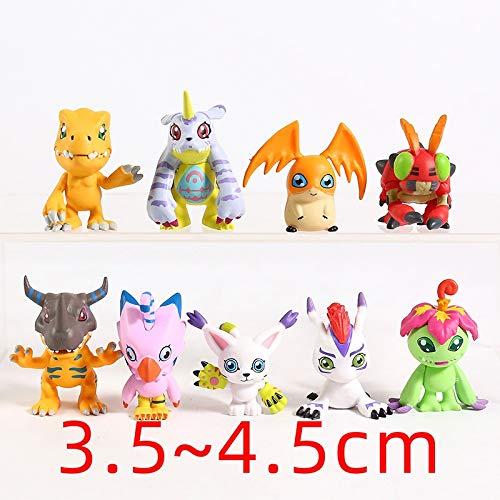weichuang Juguetes de peluche Digimon Adventure Agumon Gabumon Palmon Gomamon Patamon Tailmon Figuras Decoración Juguetes Muñecas Juego de 9 Juguetes de peluche (color: 1 juego (9 piezas))