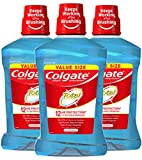 Colgate Total Pro-Shield Alcohol Free Mouthwash for Bad Breath, Antibacterial Formula, Peppermint - 1.5L, 50.7 fluid ounce (3 Pack)