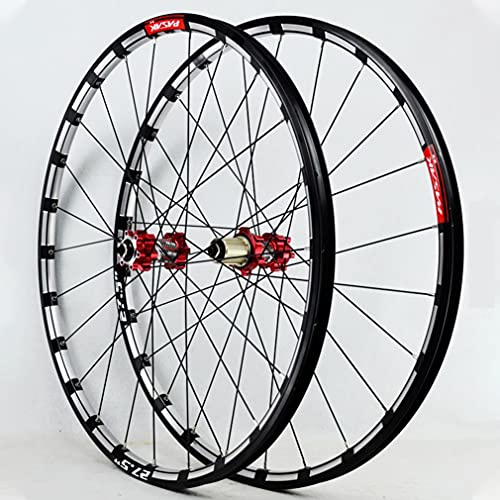 LSRRYD Bicicleta Montaña Ruedas Juego Freno De Disco MTB Rueda 26/27.5 Pulgadas Llanta 24H 1750g Liberación Rápida Eje Pasante Buje 7/8/9/10/11/12 Velocidad (Size : 26inch, Type : Quick Release)
