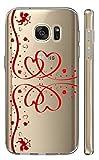 Hülle für Samsung Galaxy S7 G930F Softcase Cover Backkover TPU Schutzhülle Slim Case (2045 Schleife Herzen Rot)