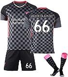 GXT Jersey Equipo de fútbol de Liverpool # 66 Alexander-Arnold Fans Jerseys Formación Deportiva Desgaste de 3 Piezas Cómodo (Size : Medium)