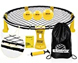 Mookis Blinngoball Outdoor Spieleset Team Games Set bestehend aus Spielnetz, 3 Bällen, Kordelzug, Lichtleiste, Ballpumpe mit 1 Nadel und Handbuch