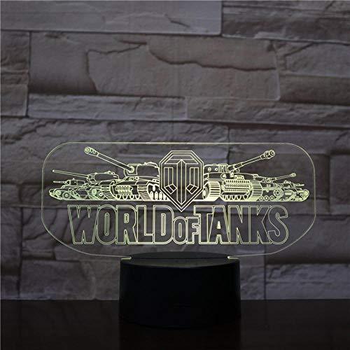 3D Illusion Lampe Led Veilleuse Game World Of Tanks Touch Sensor Décoration De La Maison Enfant Enfants Cadeau Lampe De Table Chambre