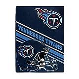 NORTHWEST NFL Tennessee Titans Raschel Throw Blanket, 60' x 80', Slant