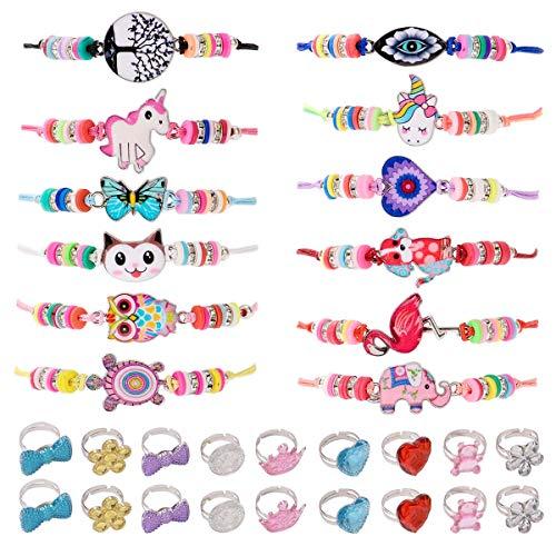 ZITFRI 30 PCS Bracelet Amitié Fille BagueBijoux - Petits Cadeaux Anniversaire Enfant Jouet Fille Bijoux Bracelet