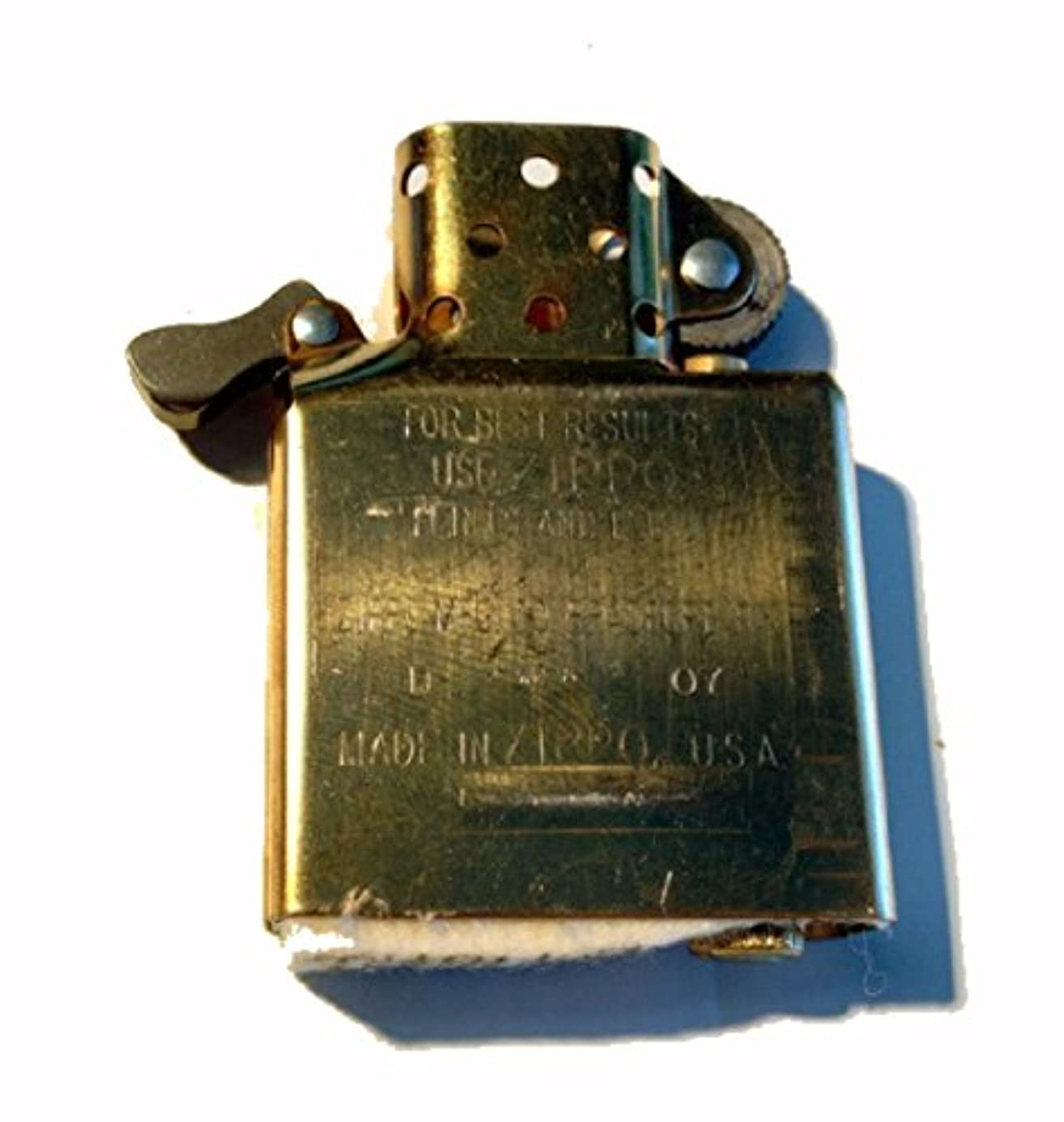 Zippo Inside Guts Brass Finish (No Outside Case) Only Inside wnhceg9629
