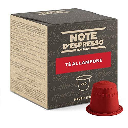 Note dEspresso - Capsulas para las cafeteras Nespresso, Red Raspberry Tea, 7 g (caja de 40 unidades)