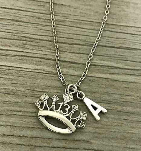 Personalized 13th Birthday Charm Necklace with Letter Charm- Girls Thirteenth Birthday Jewelry - Sweet 13 Gift- Perfect Birthday Gift For Girls