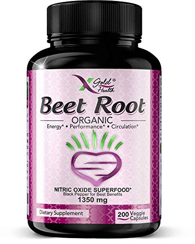Strongest Premium Organic Beet Root Powder 1350mg 200 Veggie caps Superfood...