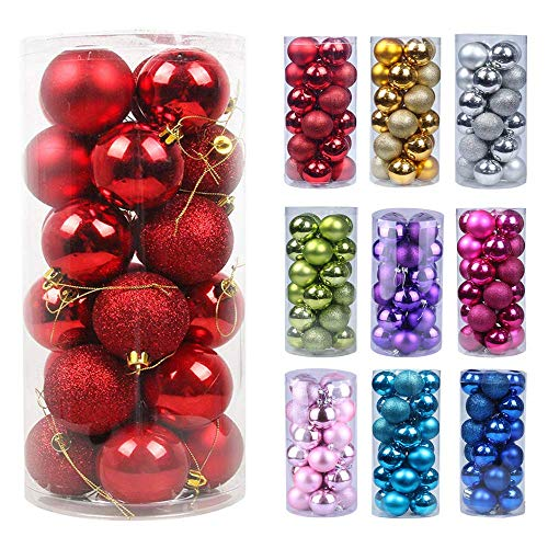 Emopeak 24Pcs Christmas Balls Ornaments for Xmas...
