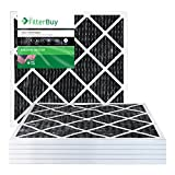 carbon activated air filter 20x20 - FilterBuy Allergen Odor Eliminator 20x20x1 MERV 8 Pleated AC Furnace Air Filter with Activated Carbon - Pack of 6-20x20x1