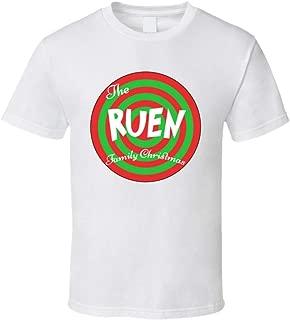 The Ruen Family Christmas Last Name T Shirt