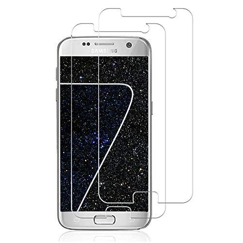 Panzerglasfolie Schutzfolie für Samsung Galaxy S7, [2 Stück] 9H Härte HD Ultra Dünn Displayschutzfolie, Anti-Kratzen, Anti-Öl, Anti-Bläschen Panzerglas folie