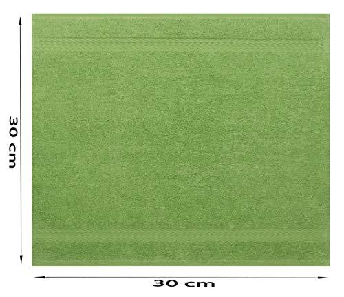 Betz Serviette débarbouillette Lavette Taille 30 x 30 cm 100% Coton Premium Couleur Vert Pomme