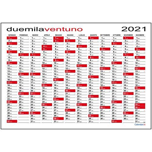 Calendario 2021 da muro planner MAXI 118x84 cm planning annuale per ufficio - SPEDITO ARROTOLATO SENZA PIEGHE