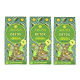 Aduna Detox - Super-Té verde organico con cúrcuma - 15 Pirámides (3 packs)