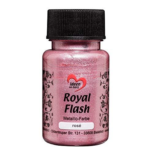 Royal Flash, Acryl-Farbe, metallic, mit feinsten Glitzerpartikeln, 50 ml (rosé)