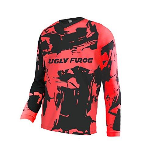Uglyfrog Motocross Winter Thermal Vlies 2018 Herren Mountainbike Downhill Freeride BMX Trikot Shirt Motocross Lange Ärmel MTB/Downhill Cycling Jersey