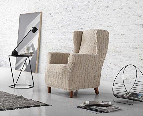 Zebra Textil Sofa, Leinen, Ohrensessel 1 Sitzer