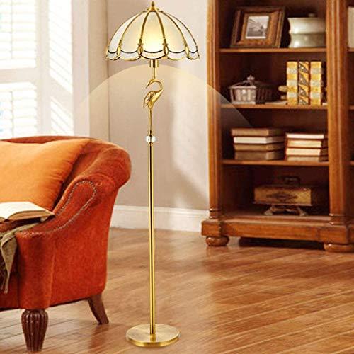 Nologo Hohe Qualität Stehleuchte Klassische einfache Kupfer Art leicht zu reinigen Vertikale Energiesparlampe Stehleuchte, verwendet in Studie Wohnzimmer Schlafzimmer-Dekoration-Lampe R / 19/12/18