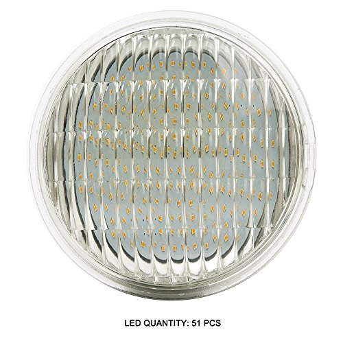 Haian PAR36 LED Landscape Bulb,6W 700LM 35W Halogen Equivalent,3000K Warm White,12V AC/DC,Water Resistant,PAR36 LED Bulb for Landscape Lighting,Off-Road Vehicles,RV Vehicles,Tractor (1 Pack)