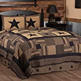 VHC Brands Check Star King Quilt 105Wx95L Country...