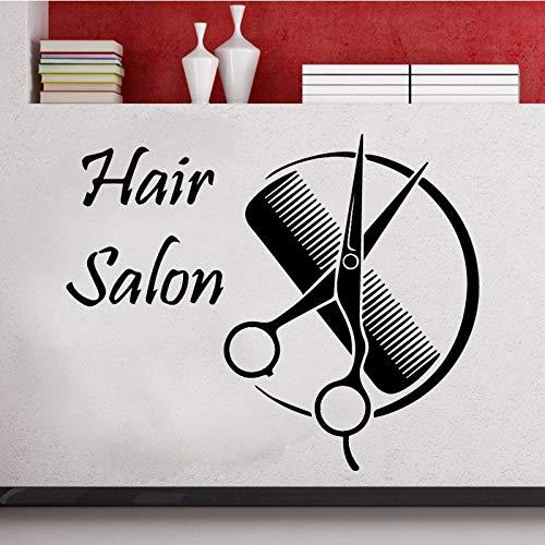 Peluquería pegatinas de pared de moda moderna peluquería pegatinas de pared decoración del hogar sala de estar pegatinas de pared A8 58x73cm