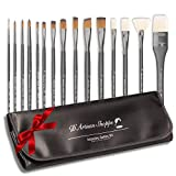 Artist Paint Brush Set Professional 15pc Best Art Supplies...